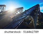 industrial background with... | Shutterstock . vector #516862789