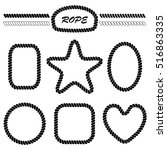 set of monochrome vector... | Shutterstock .eps vector #516863335