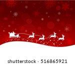illustration of a christmas... | Shutterstock . vector #516865921