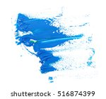 blue grunge brush strokes oil... | Shutterstock . vector #516874399