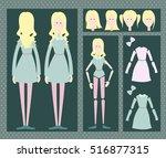 girl animation   Shutterstock .eps vector #516877315