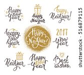 happy new year lettering.... | Shutterstock .eps vector #516879115