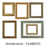 Antique frame collection - stock photo