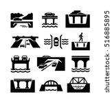 bridges vector icons | Shutterstock .eps vector #516885895