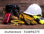 standard construction safety... | Shutterstock . vector #516896275