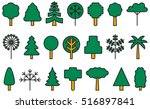 set of trees filled line icons | Shutterstock .eps vector #516897841