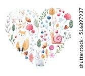 Cute Heart With Nice Hand Drawn ...