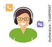 call center. customer support... | Shutterstock .eps vector #516899047