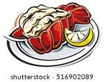 lobster tail | Shutterstock .eps vector #516902089