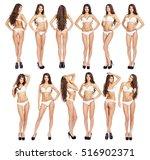 collage snap models. full... | Shutterstock . vector #516902371