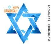 illustration of happy hanukkah  ... | Shutterstock .eps vector #516904705