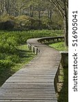 Small photo of You can reach dry foot by means of wooden bridges through the idyllic biotope on the Terlago lake
