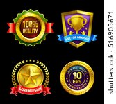 golden premium badges set....