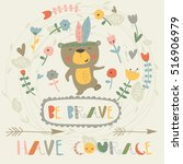 be brave card with arrows ...