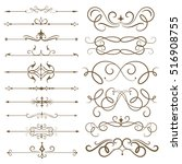 antique decorative elements ... | Shutterstock .eps vector #516908755