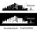 dallas skyline   vector... | Shutterstock .eps vector #516910981
