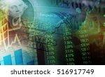 one dollar detail. macro image. | Shutterstock . vector #516917749