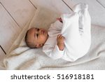 portrait of a mixed race baby... | Shutterstock . vector #516918181