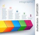 business realistic chart... | Shutterstock .eps vector #516922285