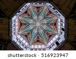 Small photo of ELY, ENGLAND - JUNE 28, 2016: The Octagon Tower in Ely Cathedral, a masterpiece of medieval engineering. It is 142 feet in height. It's total weight is over 400 tons and it took 18 years to build.
