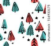 scandinavian seamless pattern... | Shutterstock .eps vector #516933175