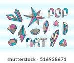 set of vector pop art design... | Shutterstock .eps vector #516938671