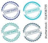 confirmed badge isolated on... | Shutterstock .eps vector #516938755
