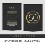 anniversary invitation greeting ... | Shutterstock .eps vector #516939487