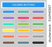 set of colored web buttons. web ... | Shutterstock .eps vector #516940507