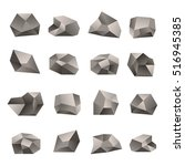 set of triangular stones... | Shutterstock .eps vector #516945385