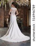 luxury bride in wedding dress... | Shutterstock . vector #516946789
