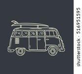 Minivan. Hand Drawn...