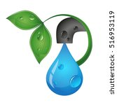 drop of water from the tap eco...   Shutterstock .eps vector #516953119
