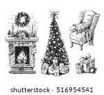 sketch vector illustration set... | Shutterstock .eps vector #516954541
