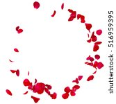 red rose petals scattered on... | Shutterstock . vector #516959395