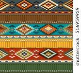 tribal multicolor seamless... | Shutterstock .eps vector #516959929