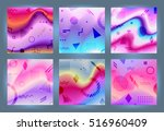 chaotic geometric backgrounds... | Shutterstock .eps vector #516960409