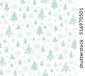 holiday pattern  christmas... | Shutterstock . vector #516970501