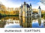 fairytale medieval castles of... | Shutterstock . vector #516975691