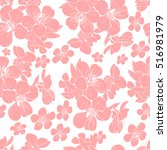 Cherry Flower Seamless Pattern