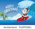 merry christmas cartoon santa... | Shutterstock .eps vector #516991861