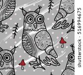 vector seamless pattern with... | Shutterstock .eps vector #516994675