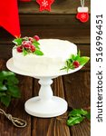New Year Or Christmas Cake Wit...