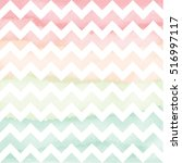 vector watercolor chevron... | Shutterstock .eps vector #516997117