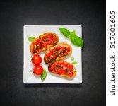 italian cuisine antipasto with... | Shutterstock . vector #517001605