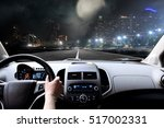 drivers hands on the steering... | Shutterstock . vector #517002331
