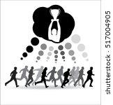 runners tend to cup winner | Shutterstock .eps vector #517004905