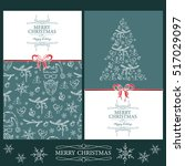 vector set. christmas and new...   Shutterstock .eps vector #517029097