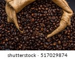 roasted coffee beans | Shutterstock . vector #517029874