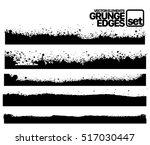 hand drawn edges pattern... | Shutterstock .eps vector #517030447